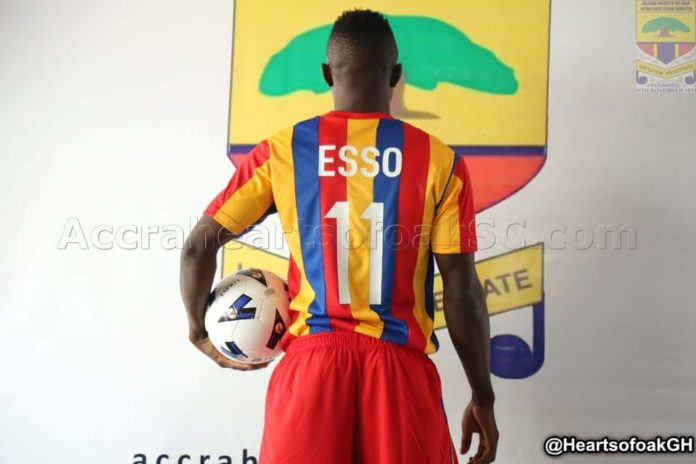 Joseph Esso hopes to make strides at Hearts of Oak soon