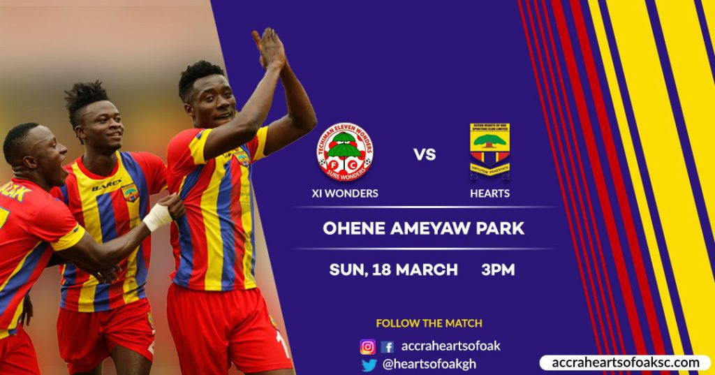 Match Preview: Eleven Wonders FC vs Hearts of Oak- Tough first task for newcomers as Premier League football returns to Techiman