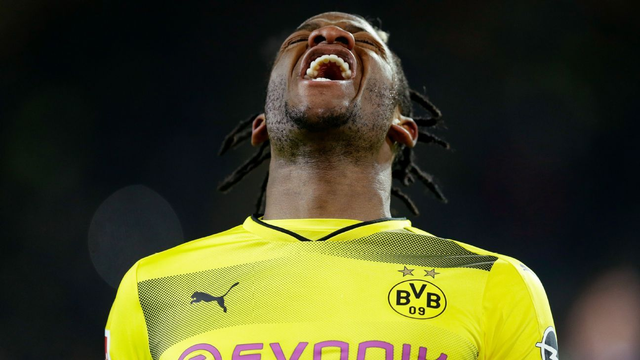 Belgium's Michy Batshuayi a doubt for World Cup after injuring ankle ligaments at Dortmund