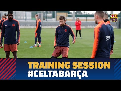 Last workout before the match against Celta