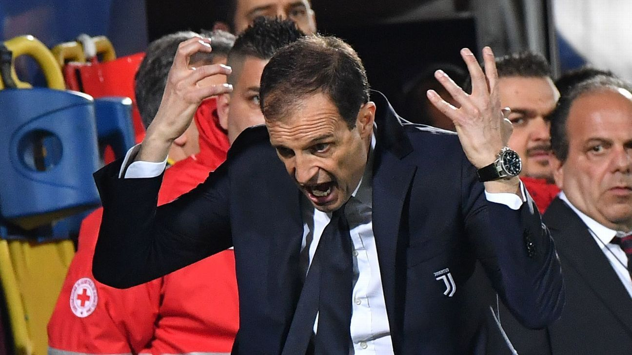 Juventus' Max Allegri 'more than happy' with four-point advantage over Napoli