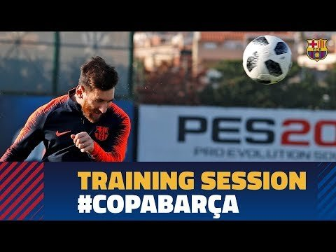 SEVILLA - BARÇA | Last workout before the Copa del Rey final