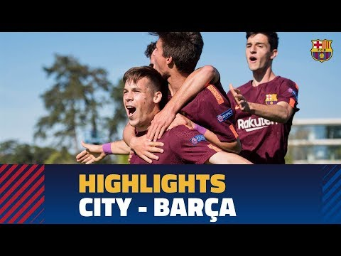 [HIGHLIGHTS] UEFA YOUTH LEAGUE: FC Barcelona – Manchester City (4-5)
