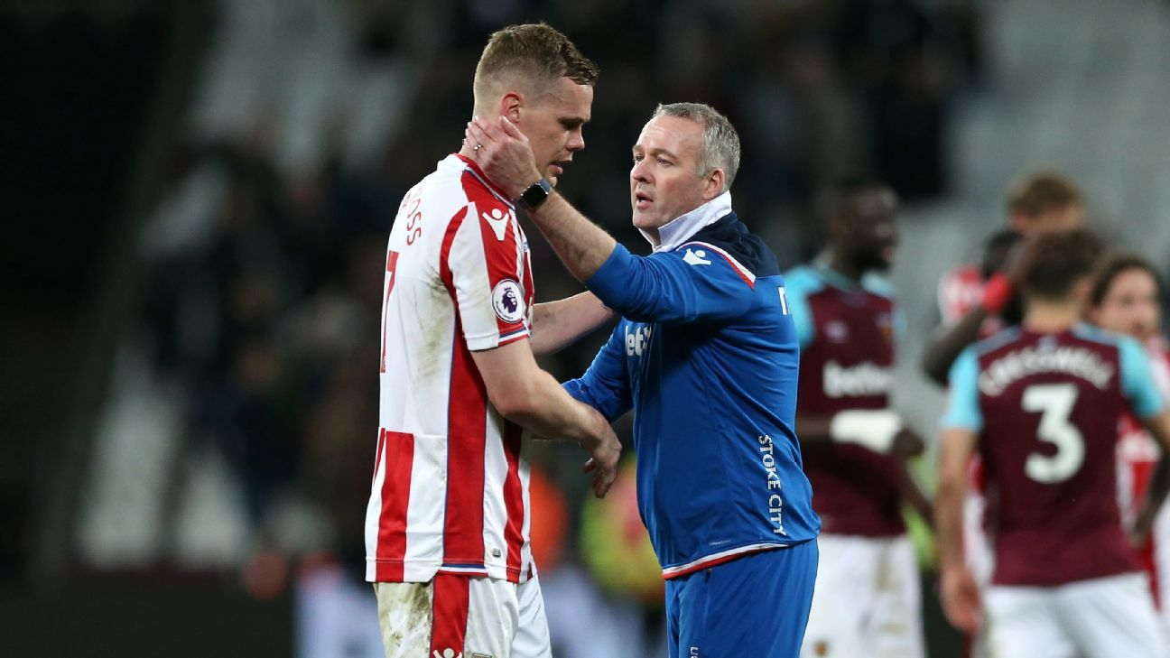 Stoke boss Paul Lambert commends 'colossal' Ryan Shawcross after death of his father