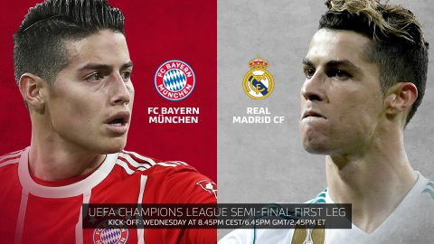 Bayern vs. Real Madrid: Team news Bayern Munich star James Rodriguez has a point to prove against Cristiano Ronaldo and Real Madrid... vor 2 Stunden