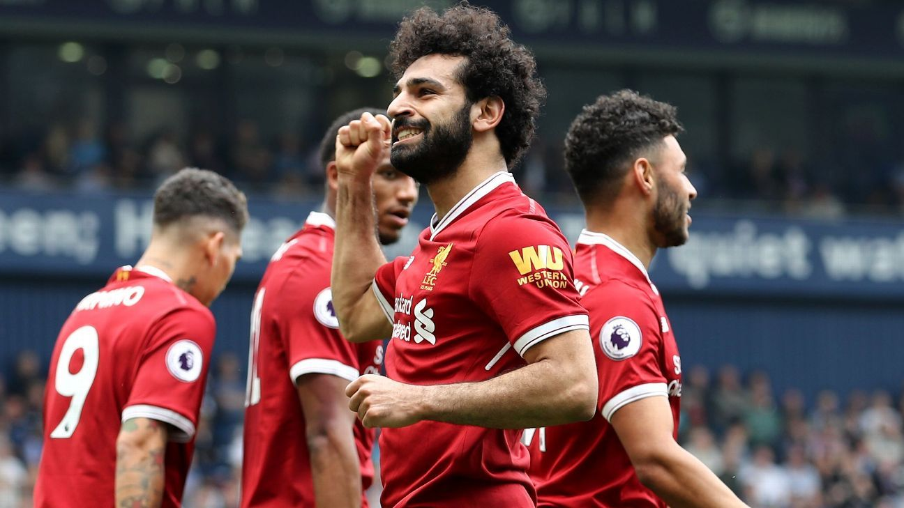 Liverpool's Mohamed Salah equals Premier League record in draw vs. West Brom