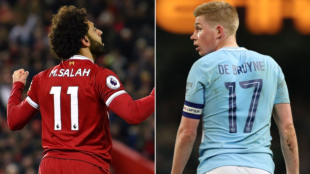 Mohamed Salah beats Kevin De Bruyne to PFA award after delivering at crucial moments