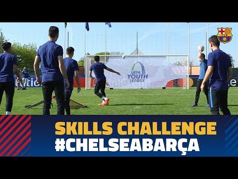 CHELSEA - BARÇA (UYL) skills challenge before the big final!