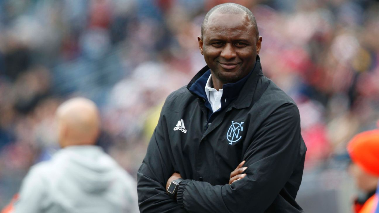 NYCFC's Patrick Vieira: No contact with Arsenal about replacing Arsene Wenger