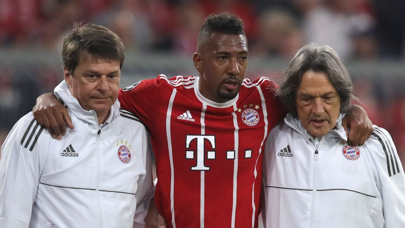 Bayern Munich's Jerome Boateng risks missing World Cup with thigh injury - reports