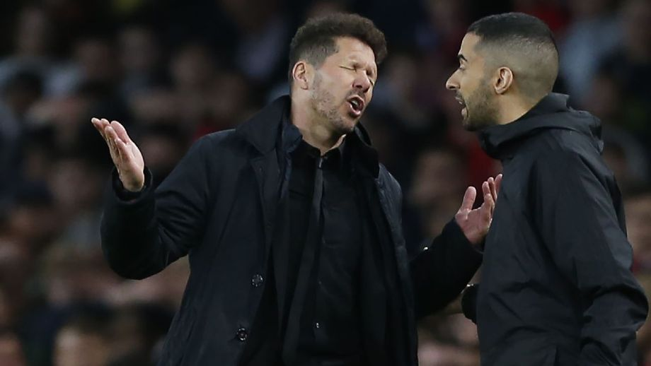 Simeone sent to stands in semi vs. Arsenal