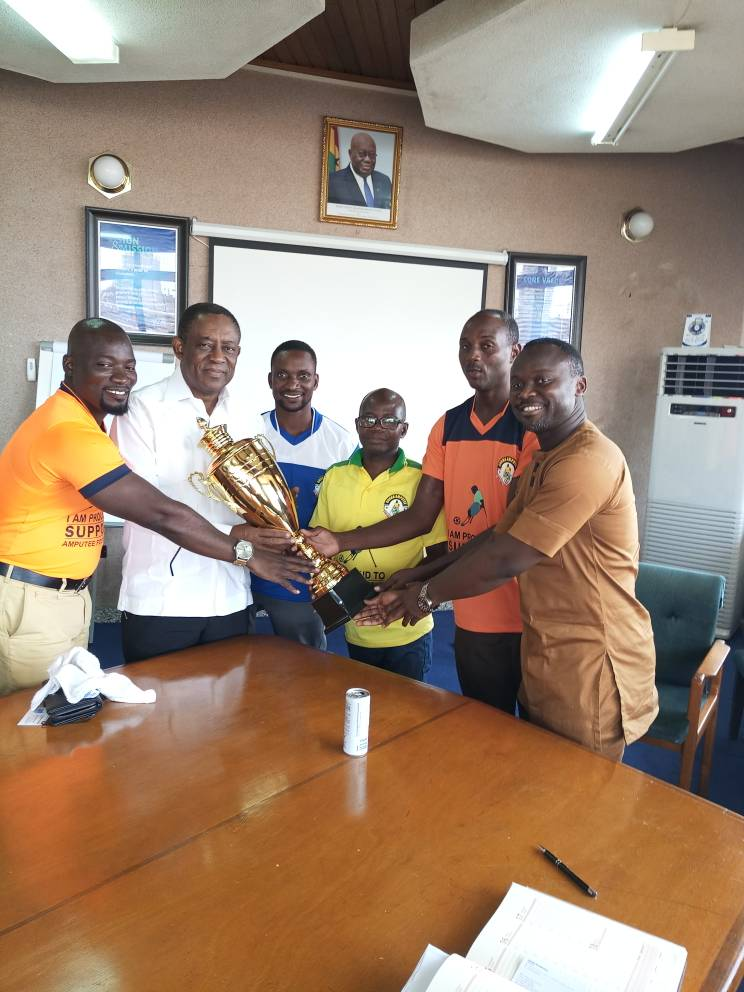 Ghana Amputee Football League Trophy arrives in TOR