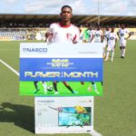 WAFA kid Aminu Mohammed receives prize for NASCO Ghana Premier League Player of the Month