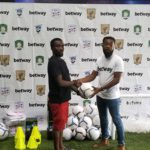 Headline sponsor Betway donates football accoutrements to Liberty Professionals