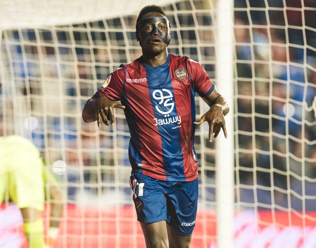 UD Levante striker Emmanuel Boateng delighted to score on injury return
