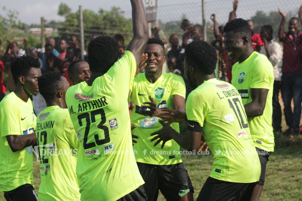 Match Report: Dreams FC 2-0 Aduana Stars -Arthur, Yakubu strike as Dreams inflict defeat on Fire Boys
