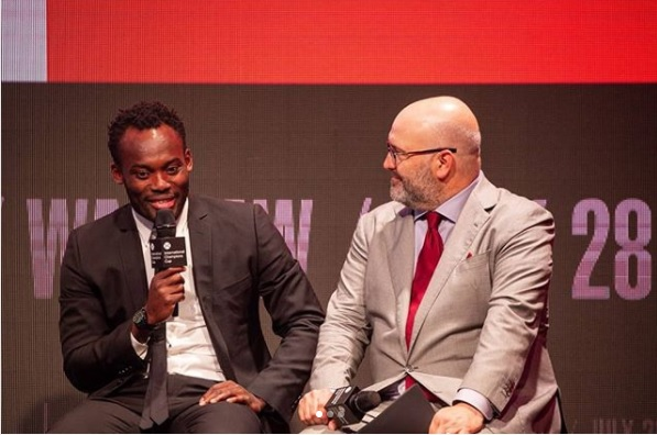 Michael Essien partakes in launch of 2018 International Champions Cup in Miami