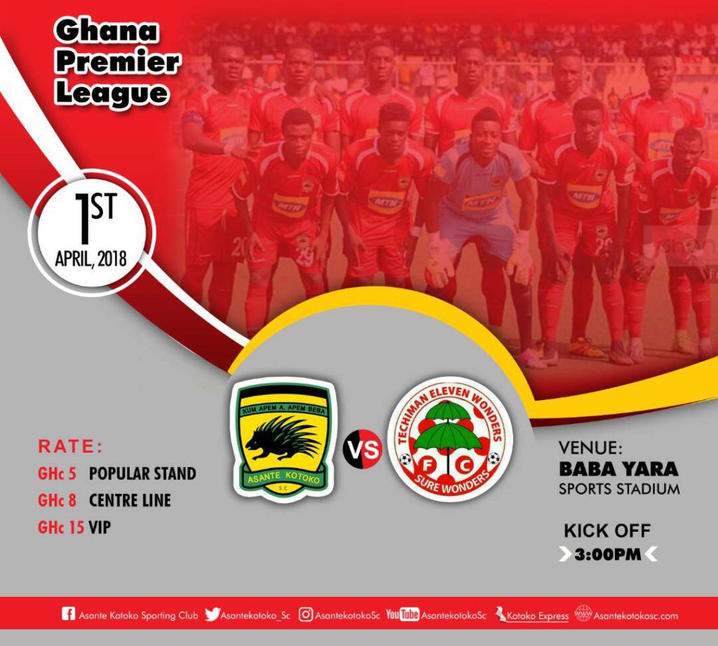 Re-LIVE: Asante Kotoko - Eleven Wonders and updates from other league centers - 2017/18 Ghana Premier League