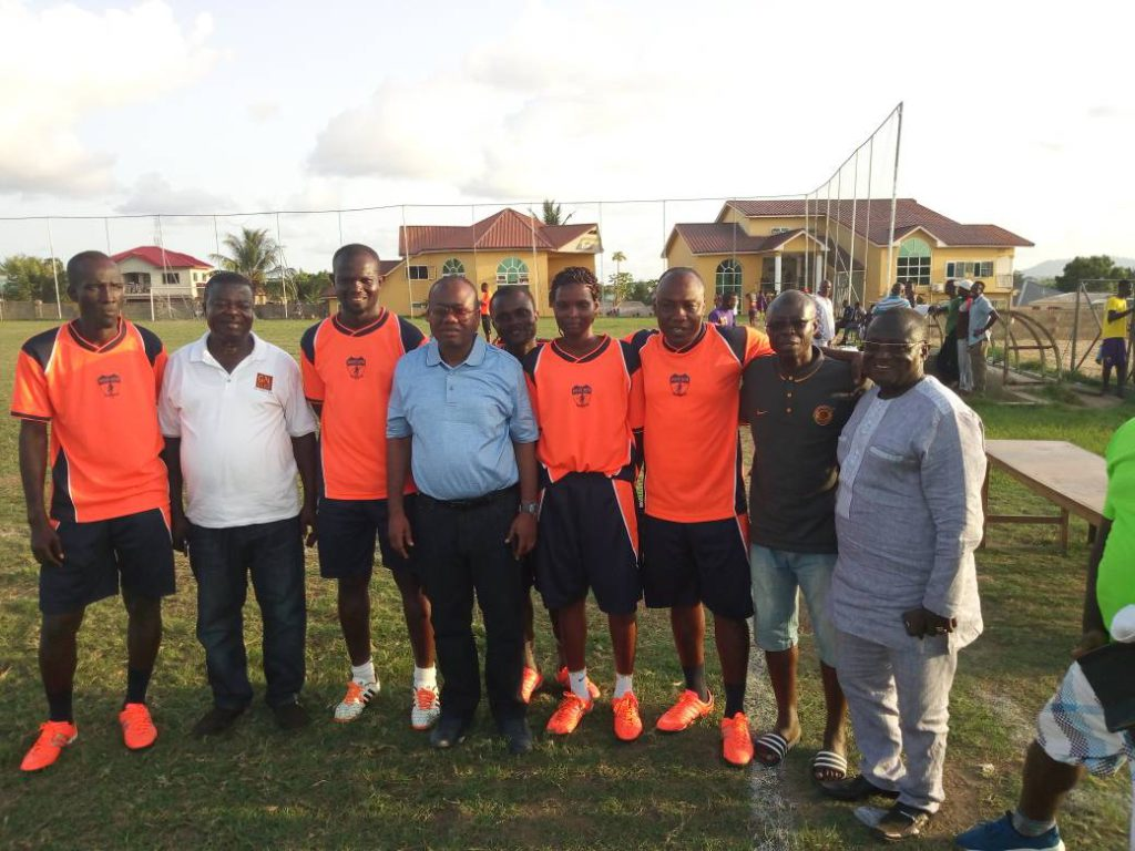 Ghana FA President Kwesi Nyantakyi watches DOL clash between Unistar Academy and Pacific Heroes to reinforce commitment to develop local football