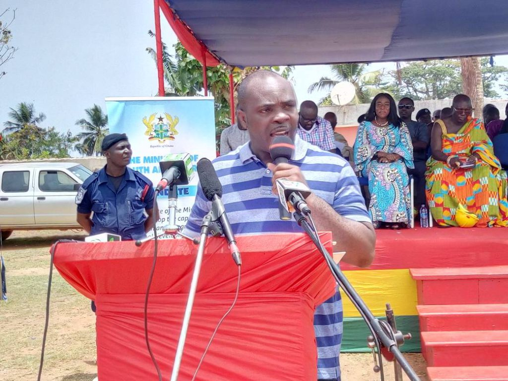 MOYS sod-cutting train lands in Western Region as Axim gets multi-purpose sports facility