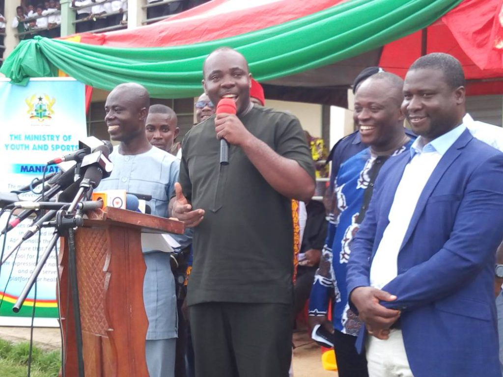 Government to complete New Edubiase Sports Stadium soon - Hon. Isaac Asiamah