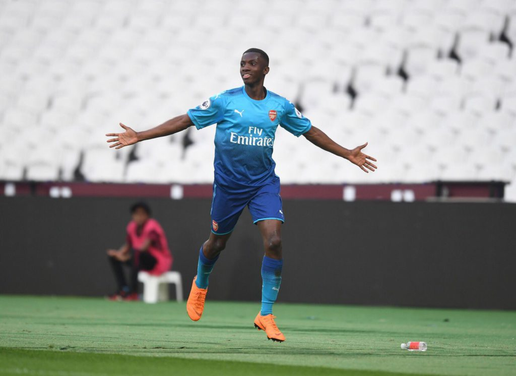 Ghanaian teen Eddie Nketiah' brace fires Arsenal to win U23 league
