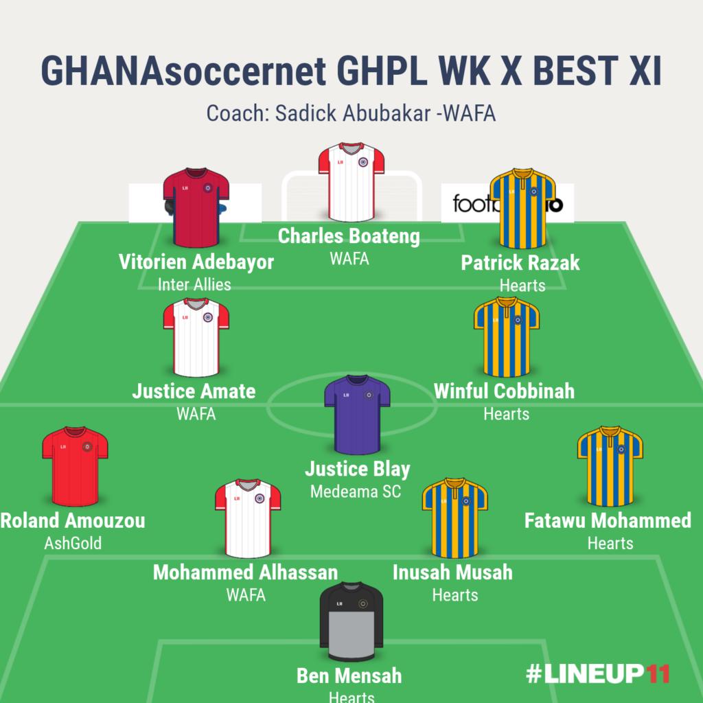 GHANAsoccernet GHPL WK X BEST XI: Charles Boateng leads WAFA massacre as Patrick Razak silences Kumasi
