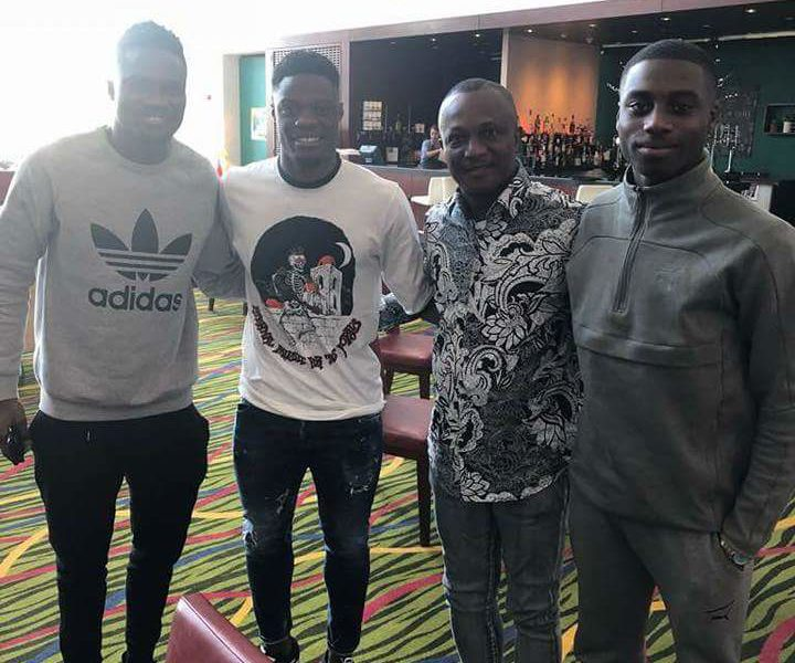 Ghana coach Kwesi Appiah meets up with Leeds United striker Caleb Ekuban