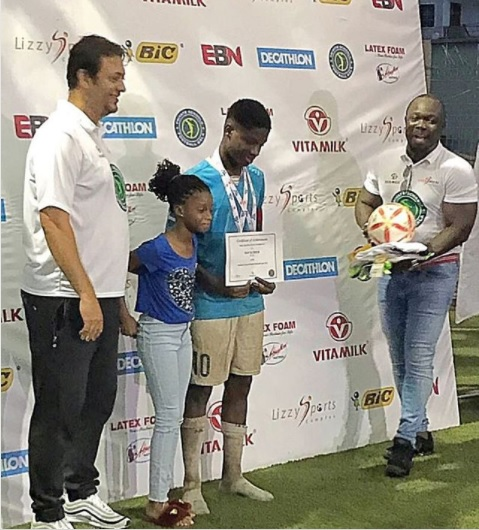 Stephen Appiah lauds son Rodney for MVP and Goalking gongs at Lizzy Sports International School Football Gala