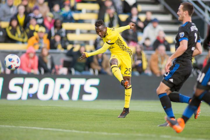 Defender Harrison Afful on target in Columbus Crew's win over San Jose Earthquakes