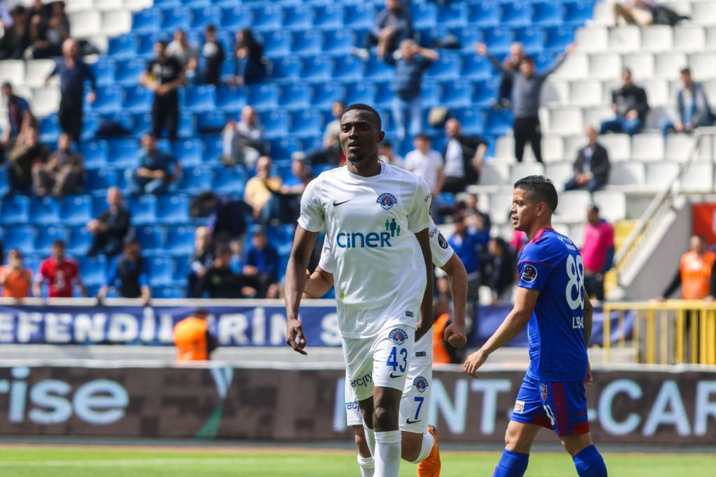VIDEO: Watch Bernard Mensah's spectacular over-head kick strike for Kasimpasa in victory over Kardemir Karabuk