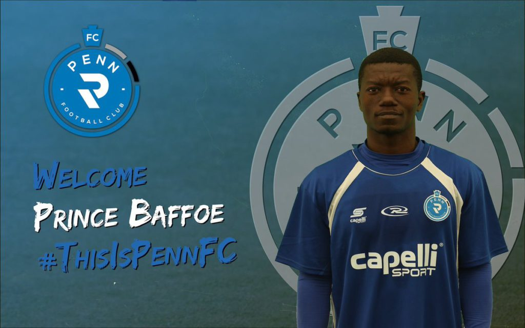 Inter Allies midfielder Prince Baffoe completes move to USL side Penn FC