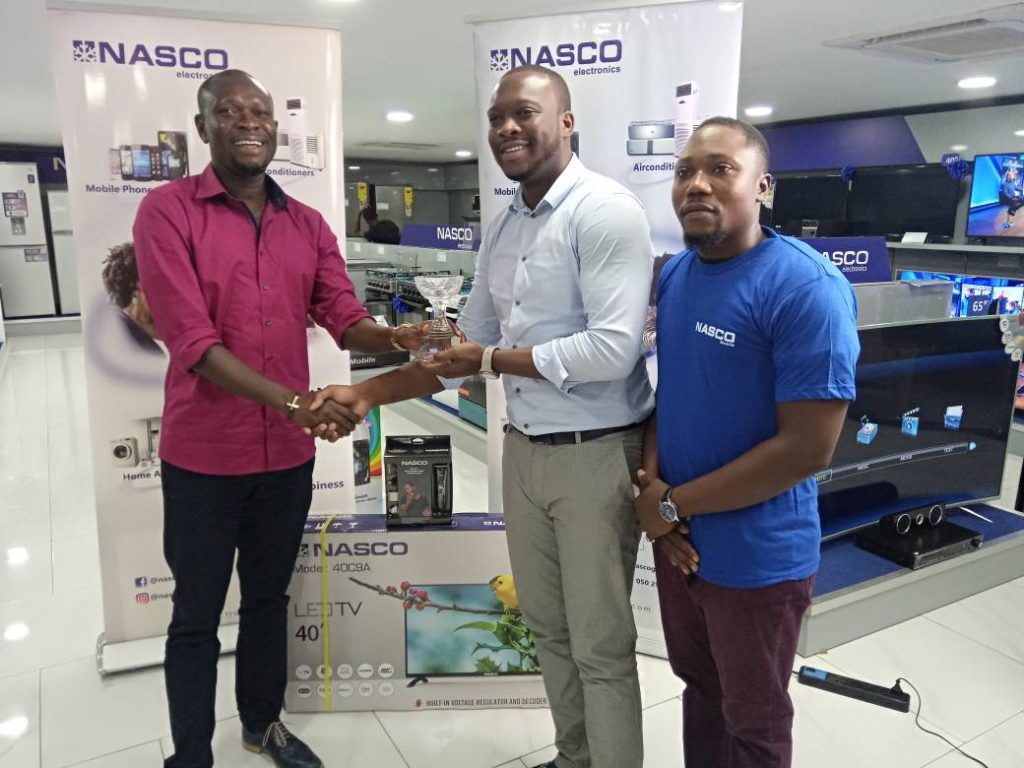 AshantiGold's CK Akonnor picks 40' LED TV as NASCO Coach of the Month of March
