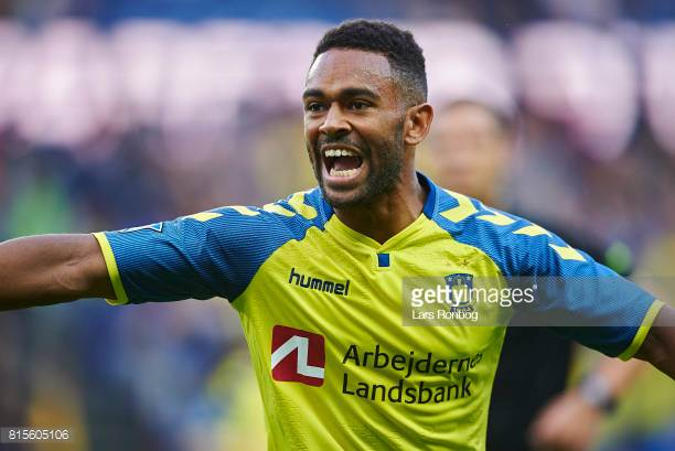 Ghanaian midfielder Kevin Mensah scores as Brondby beat FC Nordsjaelland in Danish Superliga
