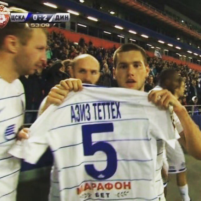 Dinamo Moscow players dedicate win over CSKA Moscow to bereaved team mate Aziz Tetteh