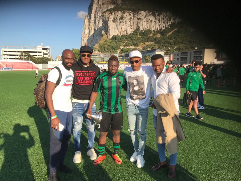 Swansea City duo Andre and Jordan Ayew fly over to Gibraltar to support brother Rahim win Cup final