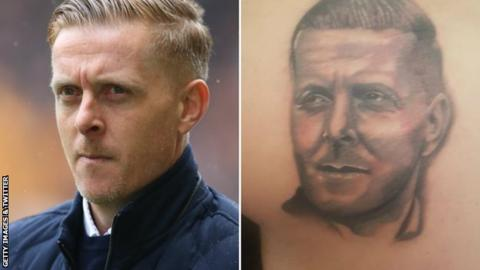 Birmingham fan gets tattoo of manager Monk on backside