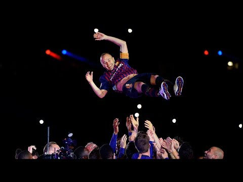 FC Barcelona - Camp Nou Title Celebrations & Iniesta farewell