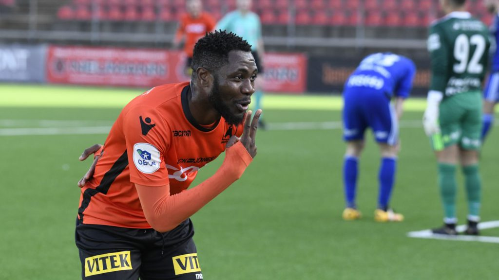 Ghanaian striker Denis Antwi sets up victory for Norwegian side Asane Fotball