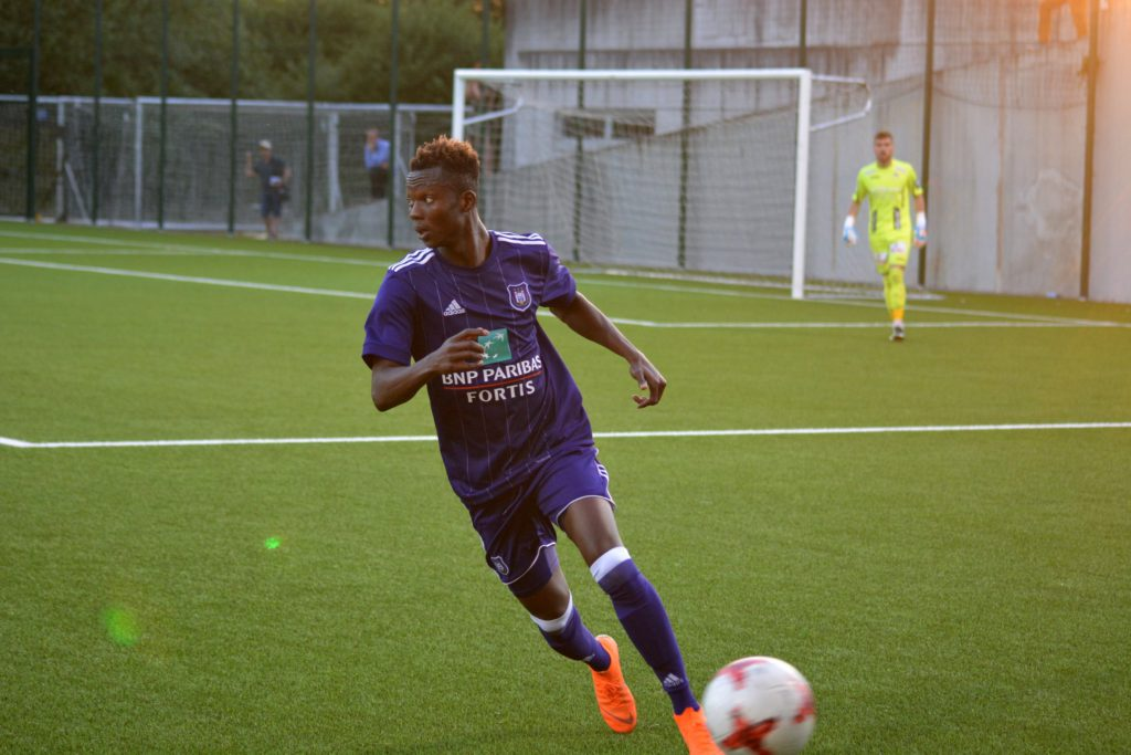 Fit-again Emmanuel Adjei-Sowah features for RSC Anderlecht in friendly game