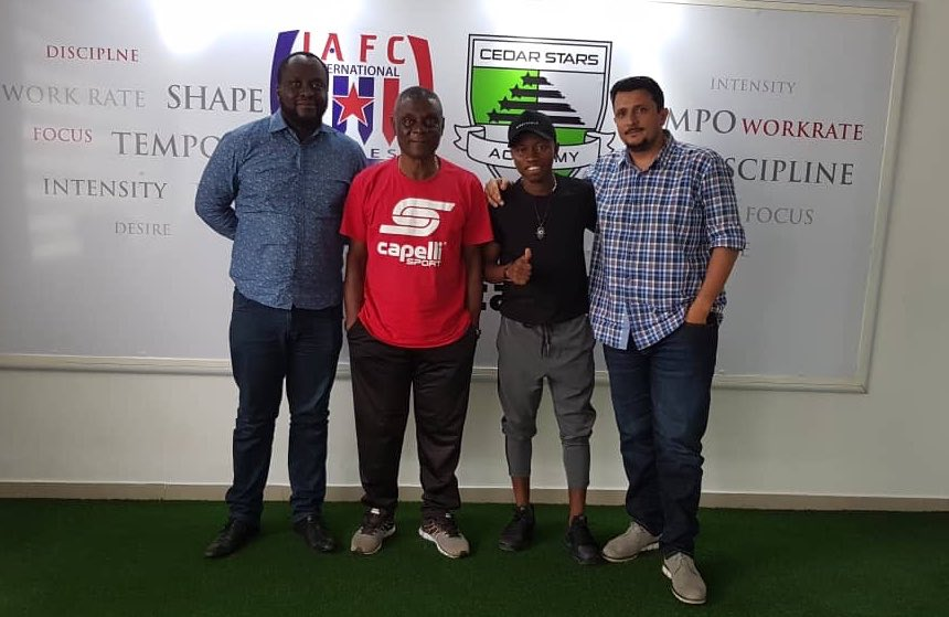 Mexico-based Clifford Aboagye visits former club Inter Allies