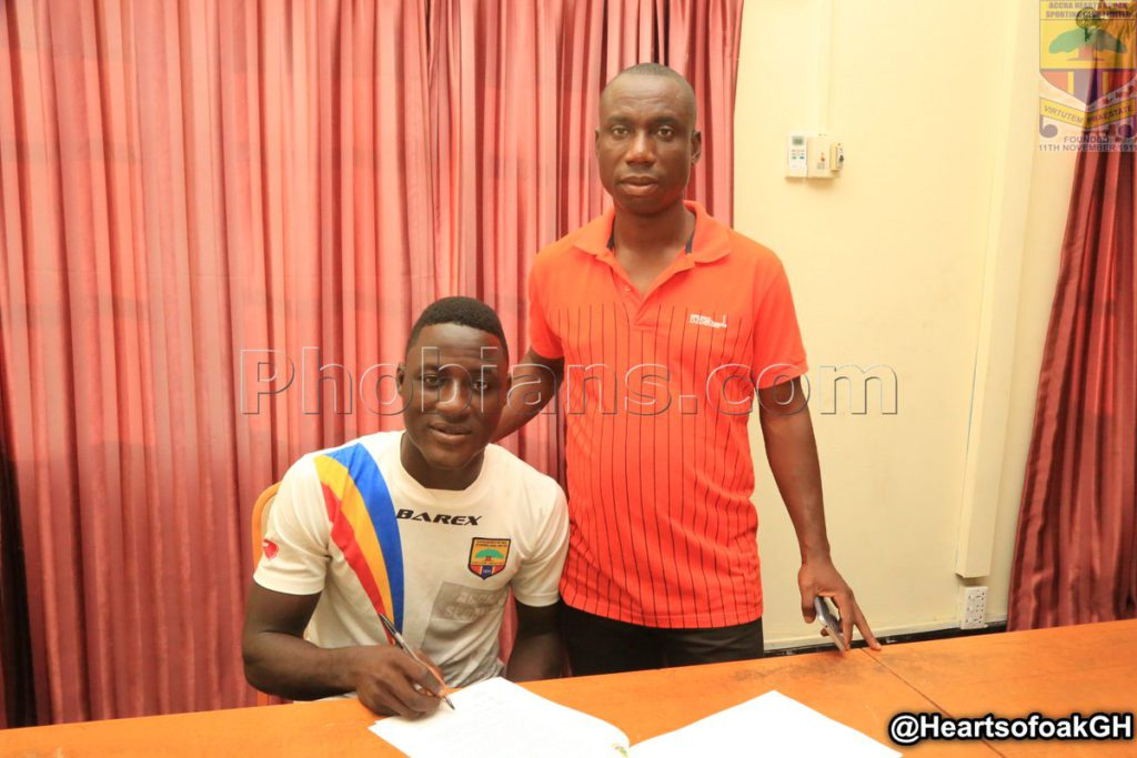 Hearts of Oak promote Auroras duo James Sewornu and Yusif Alhassan to first team