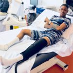 Injured WAFA SC star Aminu Mohammed in Spain for treatment on knee injury; return date unknown