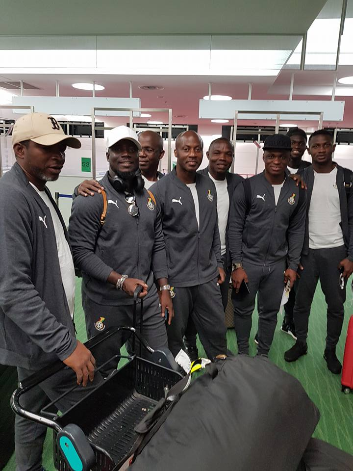 Black Stars arrive in Tokyo for Japan friendly