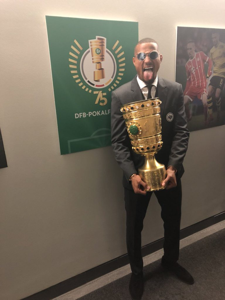 Kevin-Prince Boateng delighted after winning German Cup with Eintracht Frankfurt
