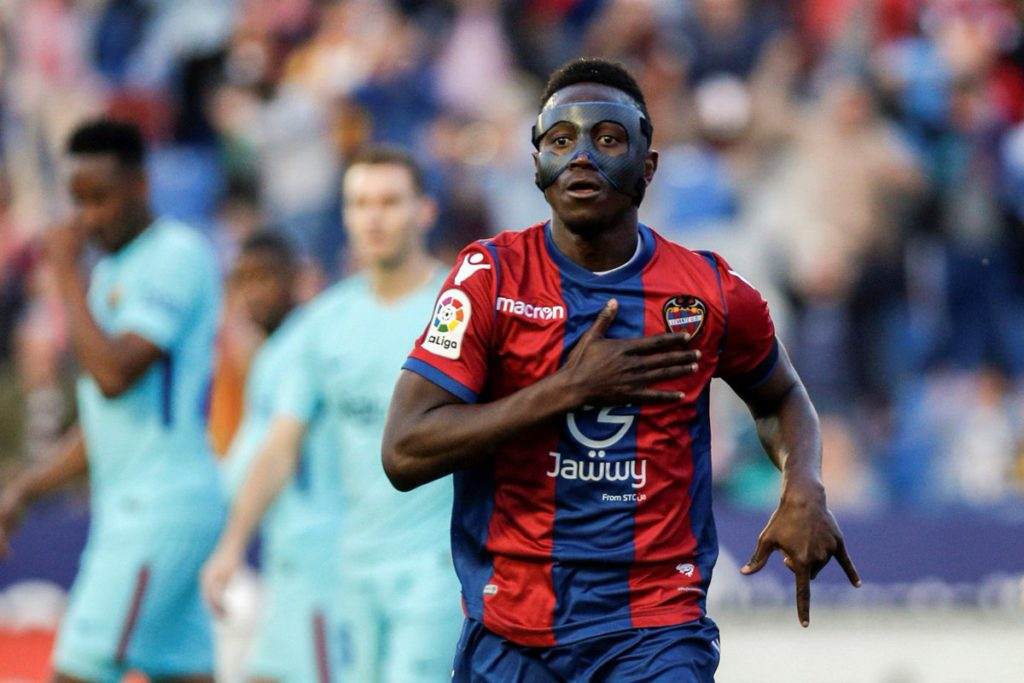 """Levante youngster tweets """"Emmanuel Boateng for Ballon d'or"""" after hat-trick against Barcelona"""