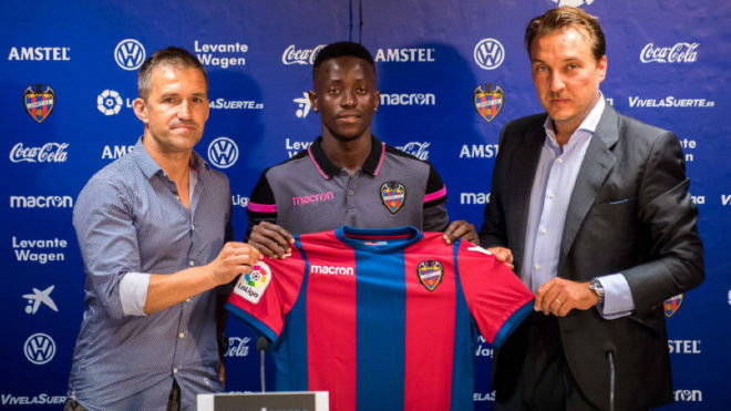 Ghanaian forward Emmanuel Boateng thanks Levante fans for successful first season in Spain