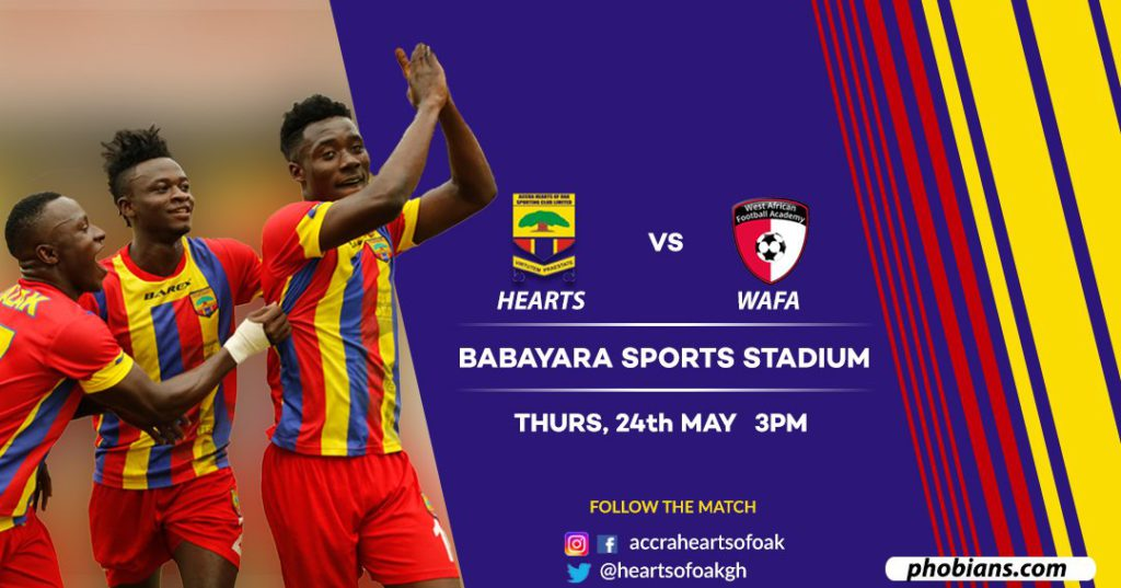Zylofon Cash Premier League: Hearts of Oak announce WAFA clash moved to Thursday in Kumasi