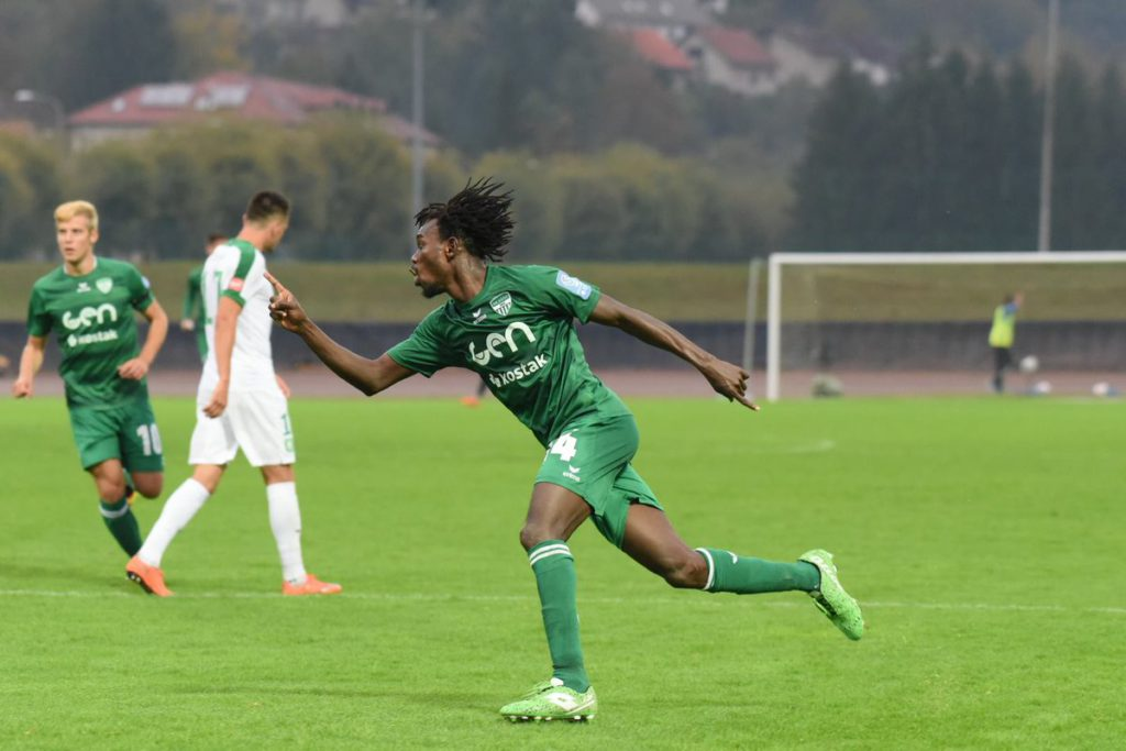 Ibrahim Arafat Mensah bags ninth league goal for NK Aluminij in defeat against NK Rudar