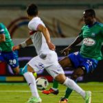John Antwi receives red card in Misr Lel-Makkasa SC defeat against Zamalek